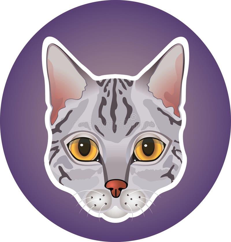 Gray cat icon stock photography
