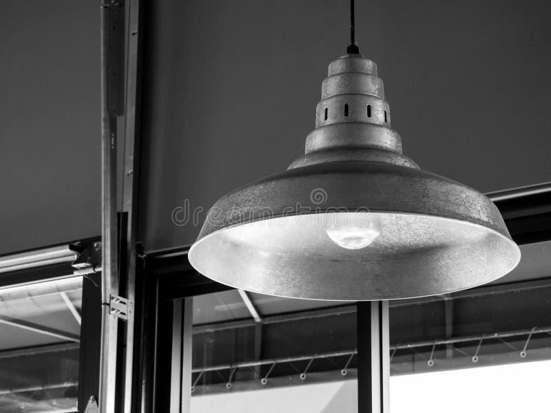 Gray Ceiling Lamp Near Clear Glass Window stock photos