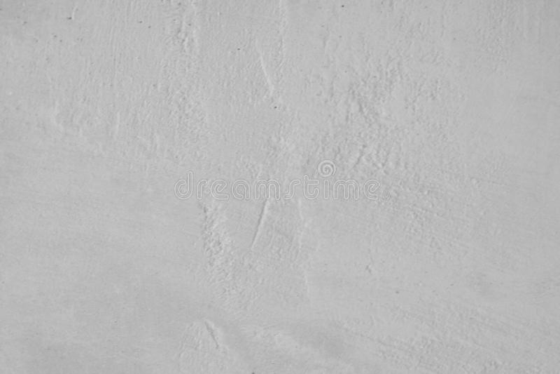 Gray Cement Wall Background anziano, struttura concreta bianca Superficie d'annata dello stucco in bianco e nero Modello universa immagine stock