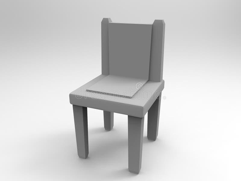 Gray Chair 3d rende ilustração royalty free