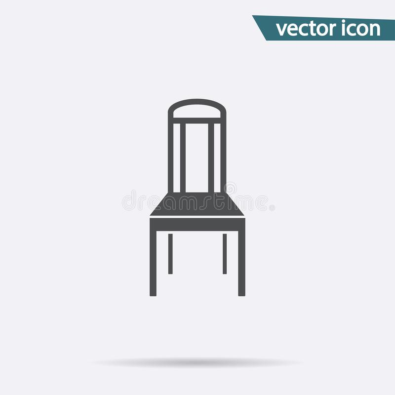 Gray Chair icon isolated on background. Modern flat pictogram, business, marketing, internet concept vector illustration
