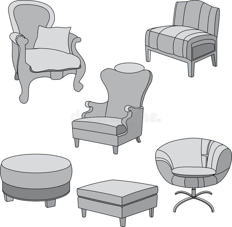 Download Gray Chairs For The Home Royalty Free Stock Photo - Image: 21570835