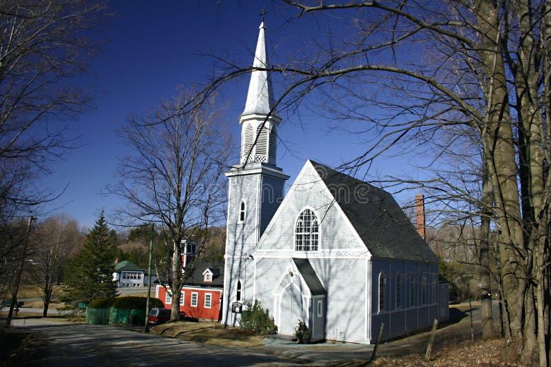 Gray church stock image