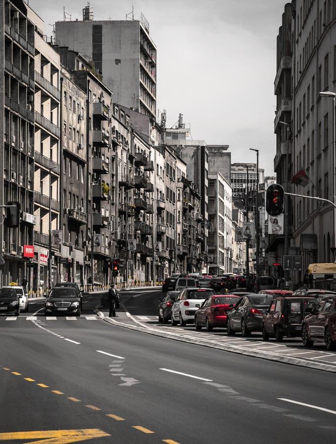 The gray city stock photography