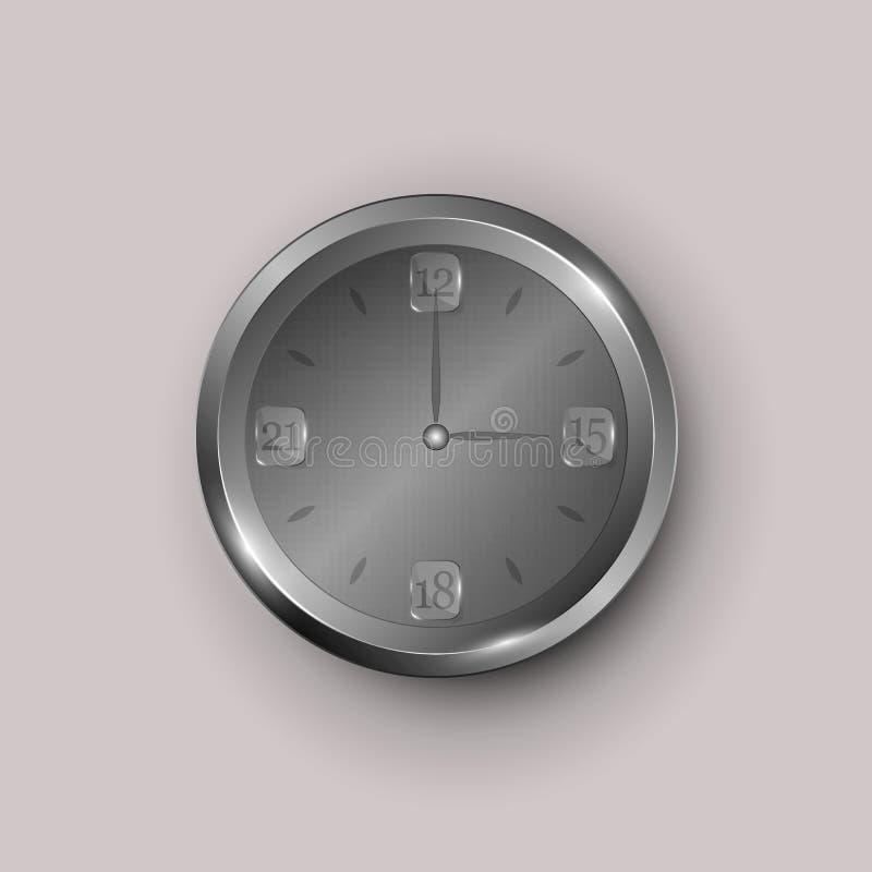 Gray clock face vector illustration