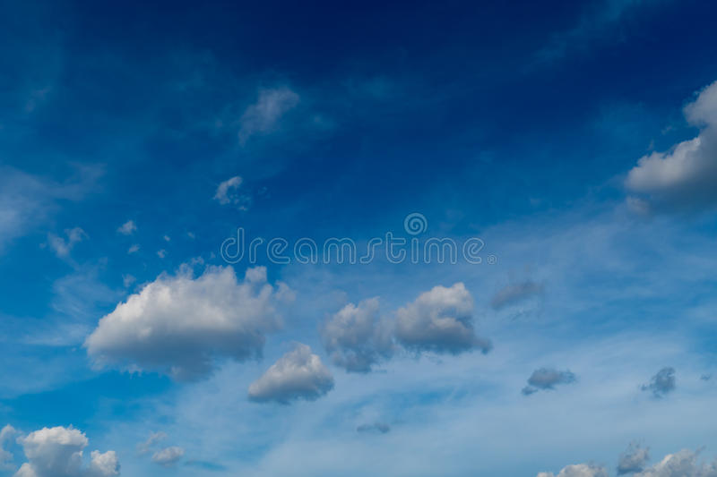 Gray cloud with Blue sky. Background stock photos