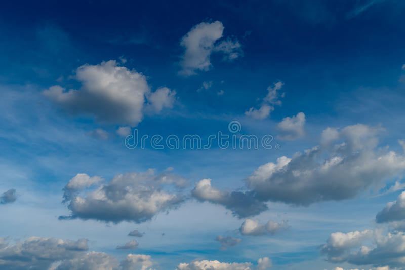 Gray cloud with Blue sky. Background stock images