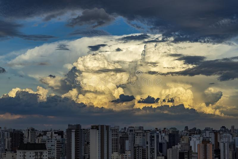 Gray cloud hunk formations on tropical sky, Nimbus moving. Gray cloud hunk formations on tropical sky, Nimbus moving, Abstract background from natural royalty free stock photos