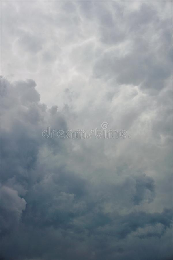 Gray clouds stock photography