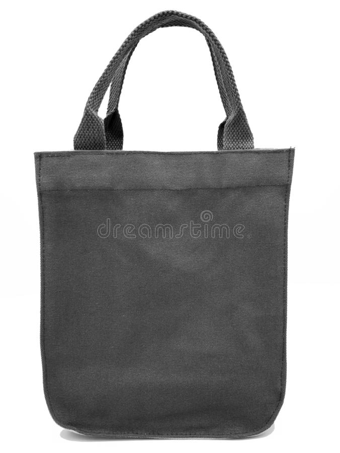 Gray color fabric canvas bag for shopping ans casual style on isolated white background and clipping path stock photos