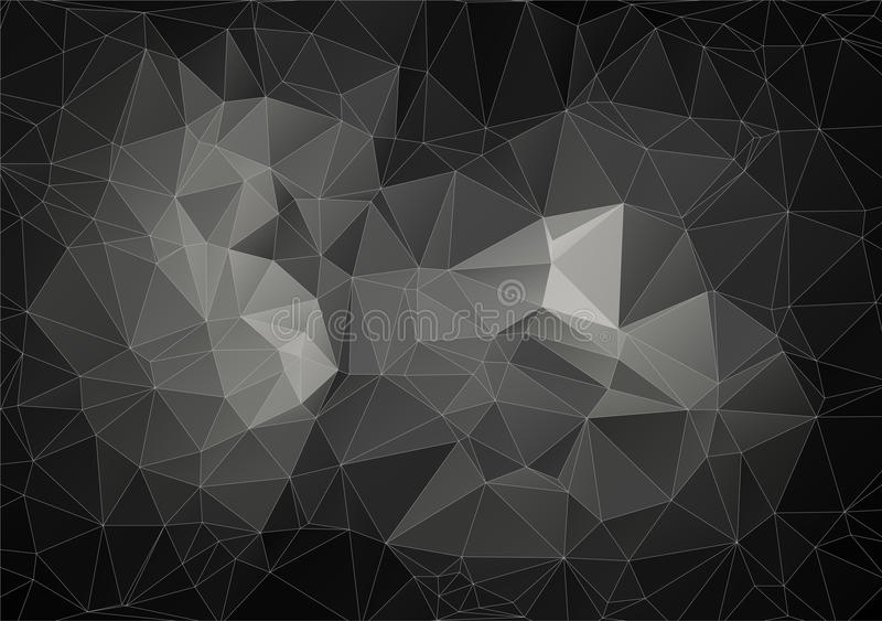 Gray composition with triangles geometric shapes vector illustration