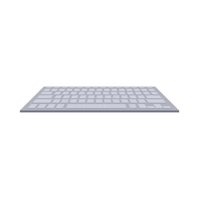Gray computer keyboard icon, cartoon style. Gray computer keyboard icon in cartoon style on a white background vector illustration