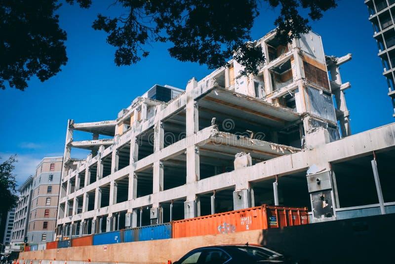 Gray Concrete Building royalty free stock photo