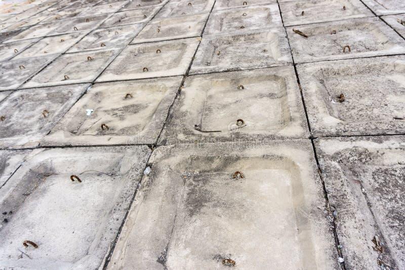 The gray concrete embankment pattern background stock photos
