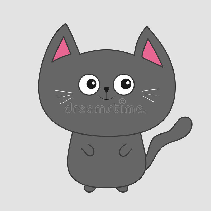 Cute cartoon kittens with big eyes