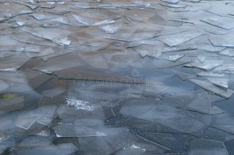 Gray cracked ice. Dark gray cracked ice shards royalty free stock images