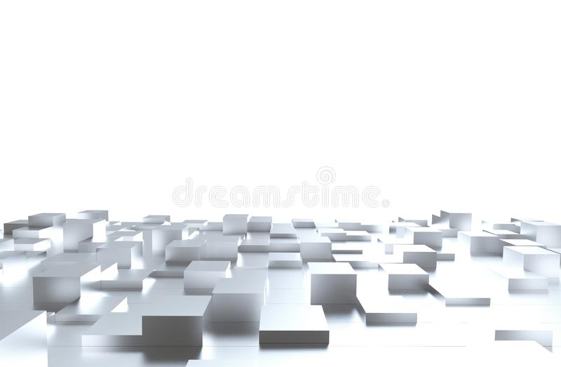 Gray cubes abstract background pattern. 3d illustration.  royalty free stock images