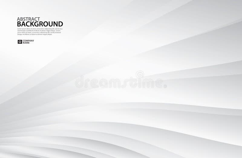 Gray Curve Abstract bakgrund, vit textur, tapeten, yttersida, banret, mallen för räkningsdesignorienteringen, bakgrund, texturera stock illustrationer