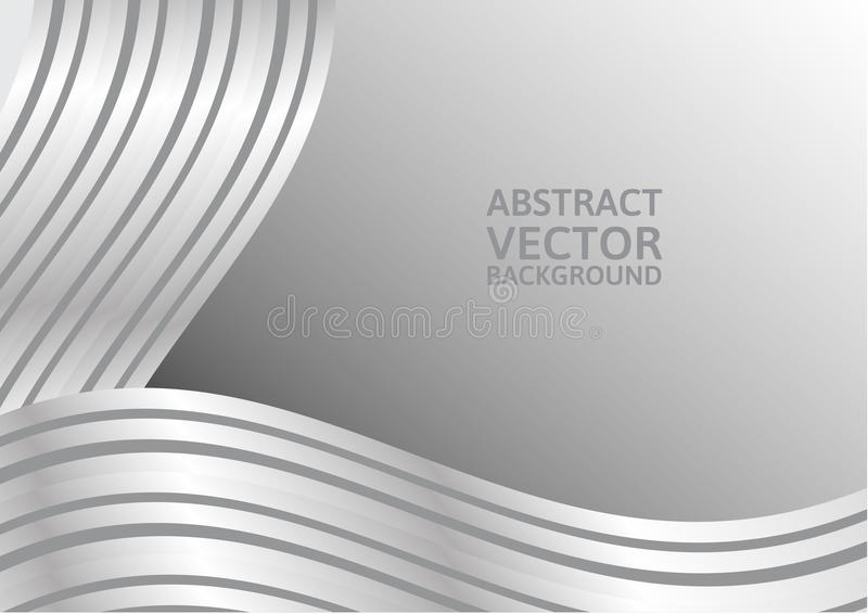Gray curve abstract vector background with copy space.  royalty free illustration
