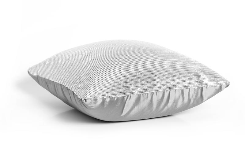 Gray cushion on white. Gray cushion isolated on white royalty free stock image