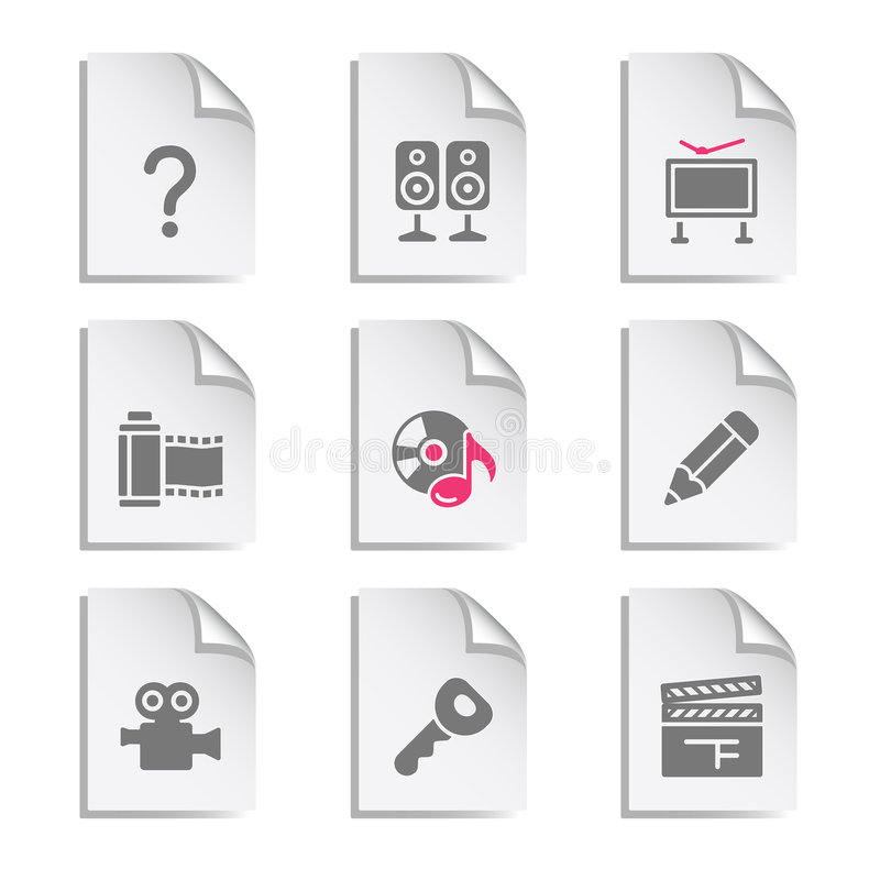 Free Gray Document, Set 28 Stock Images - 6901564