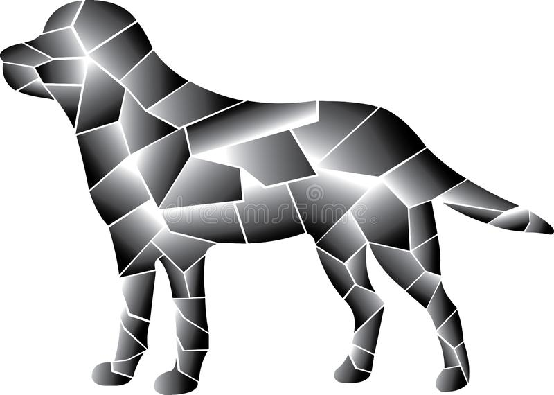 Gray dog design. Different elements. vector illustration