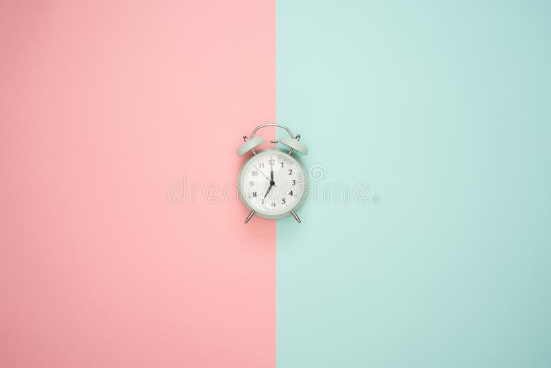 Gray Double-bell Clock stock photo