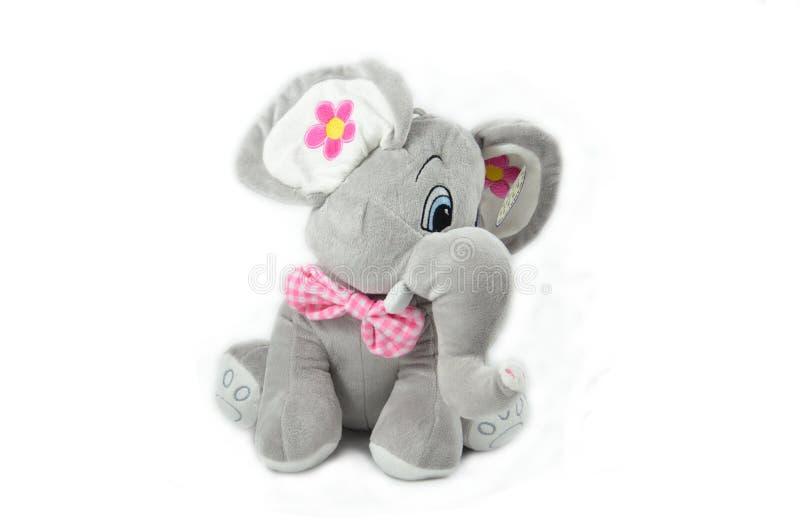 Gray Elephant Plush Toy stock image
