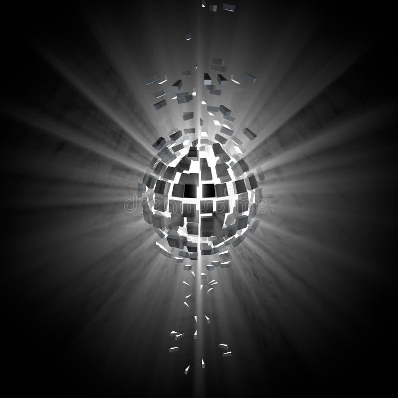 Gray Explosion Background lizenzfreie abbildung