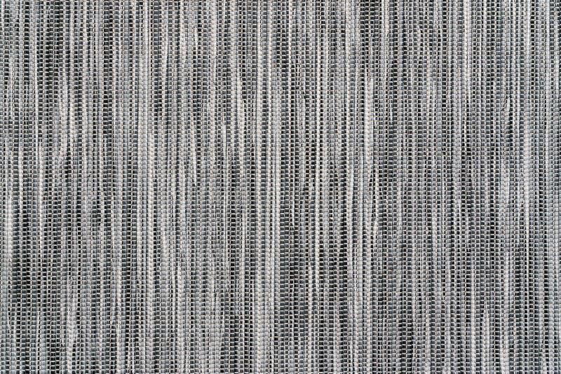 Gray Fabric Texture med vertikala linjer på soffan arkivfoton