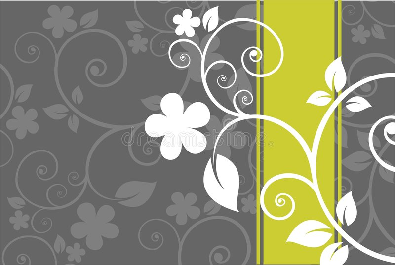 Gray floral background. Gray background with with light floral curls royalty free illustration