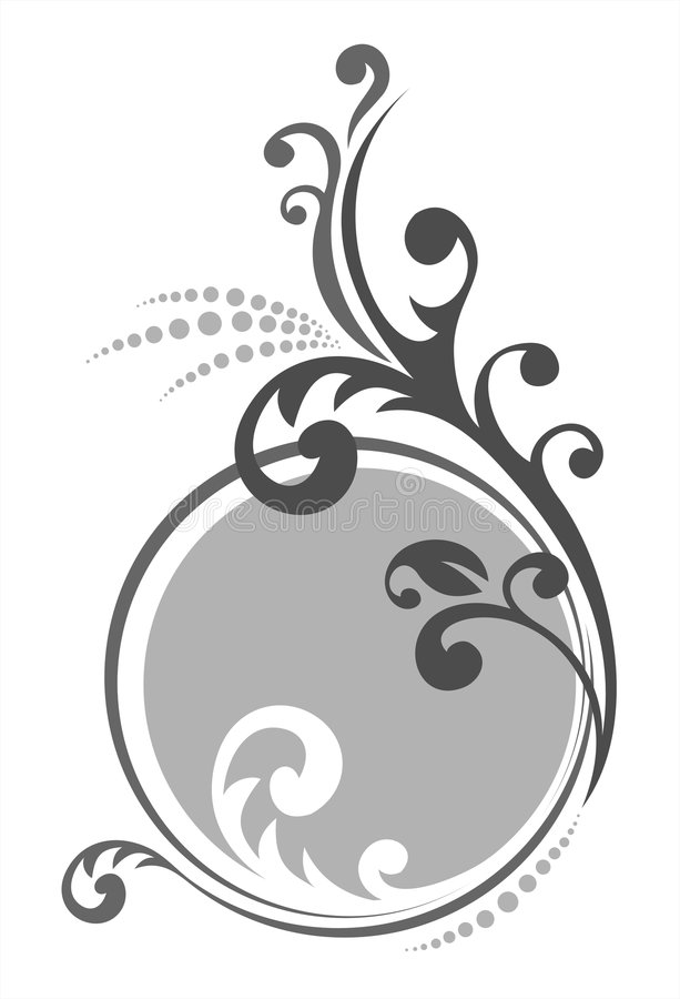 Download Gray floral pattern stock vector. Image of graphic, decor - 3761015