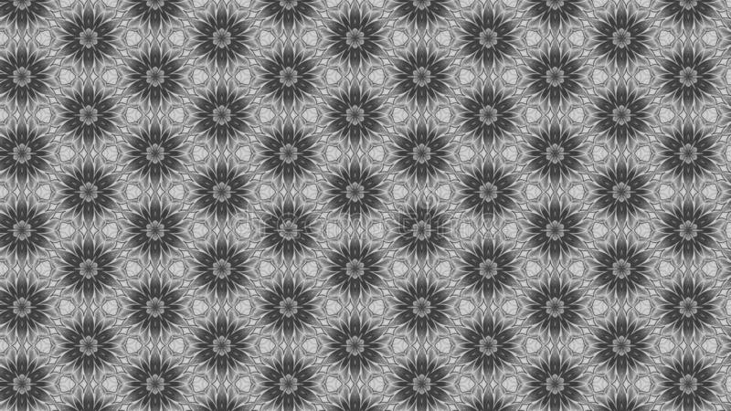 Gray Floral Pattern Background Template libre illustration