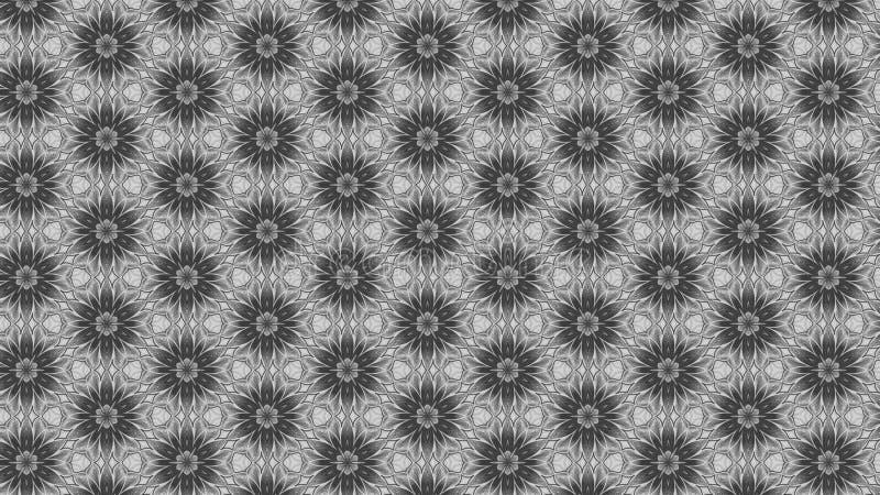 Gray Floral Pattern Background Template ilustração royalty free