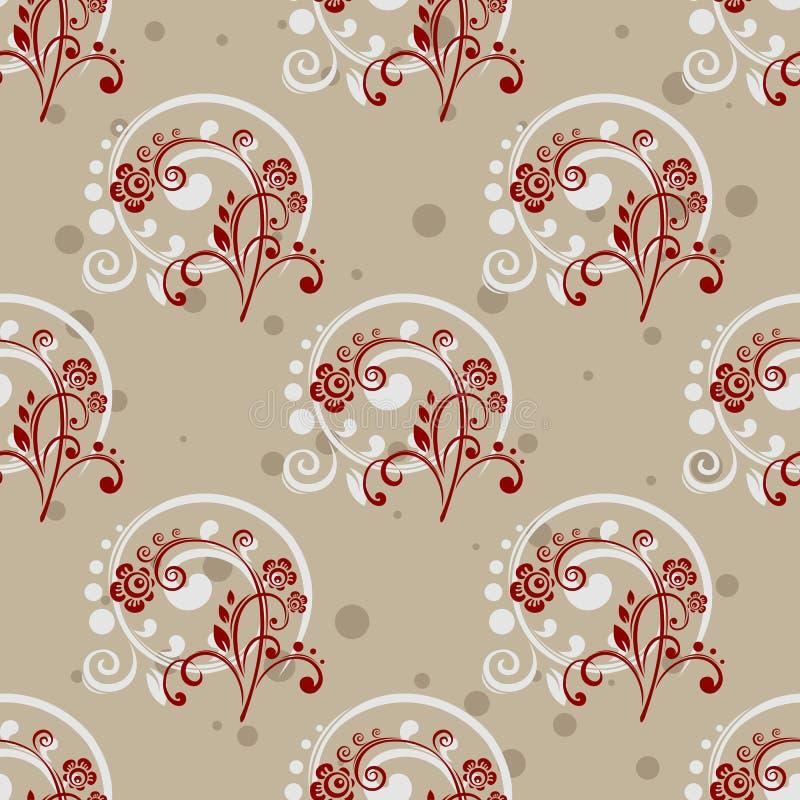 Gray Floral Seamless Pattern vektor abbildung