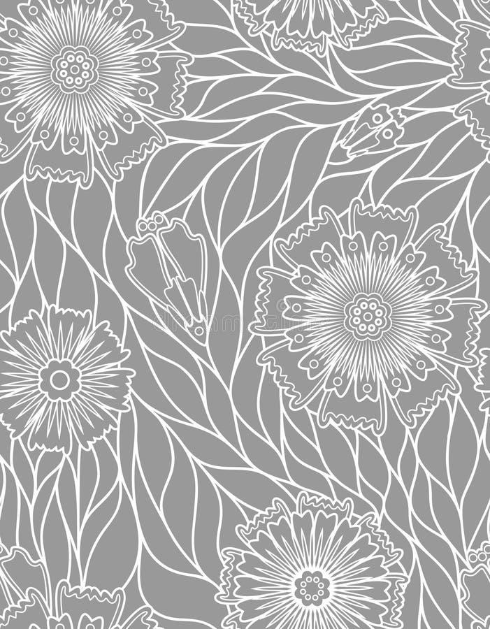 Gray floreale di struttura royalty illustrazione gratis