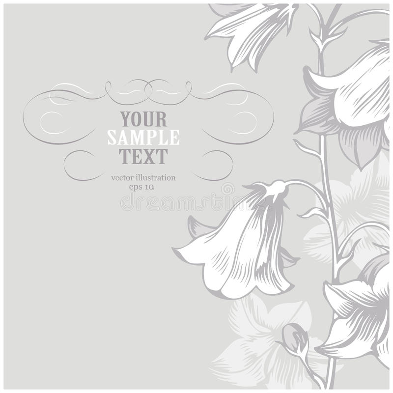 Gray flower stock illustration