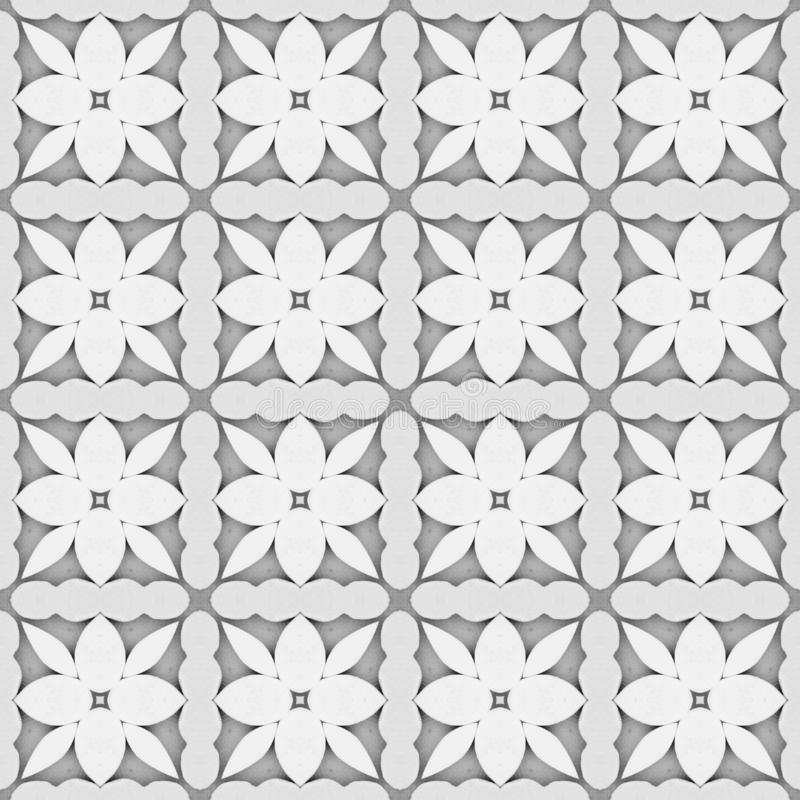 Gray flower mosaic detailed seamless textured pattern background. Gray flower mosaic detailed seamless and repeat textured pattern background stock illustration