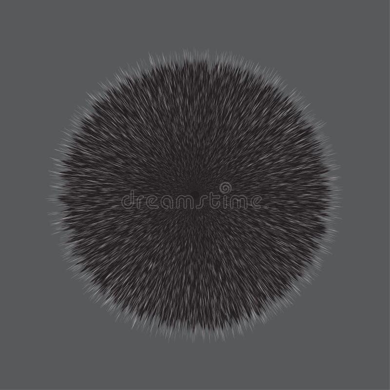 Gray Fluffy Hair Pom stock illustratie