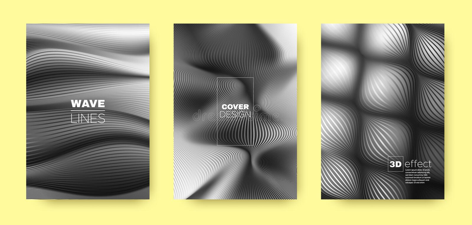Gray Fluid Template. Abstract Cover. Business. Background. 3d Movement Halftone Texture. Flow Concept. Gray Headline Cover. Business Background. Fluid Concept vector illustration