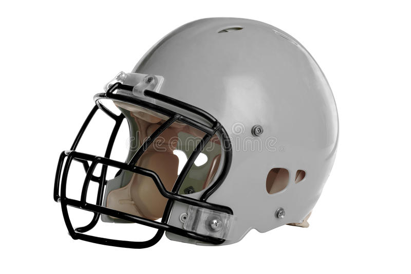 Gray Football Helmet royalty free stock images