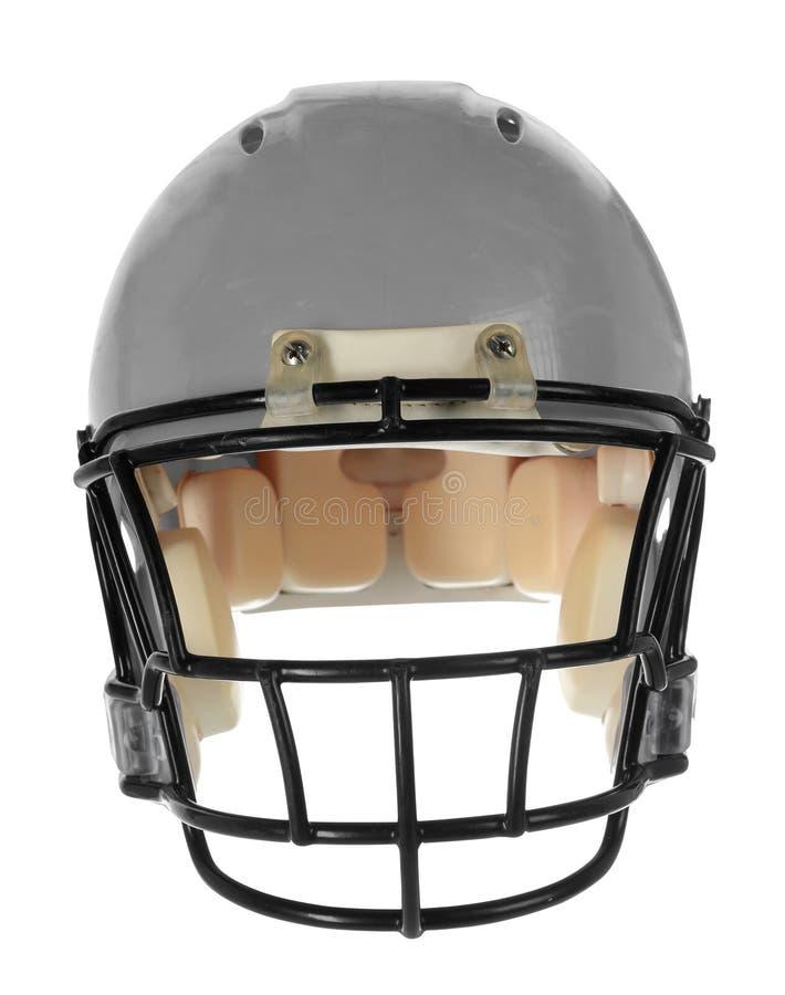 Gray Football Helmet - Front View royalty-vrije stock foto