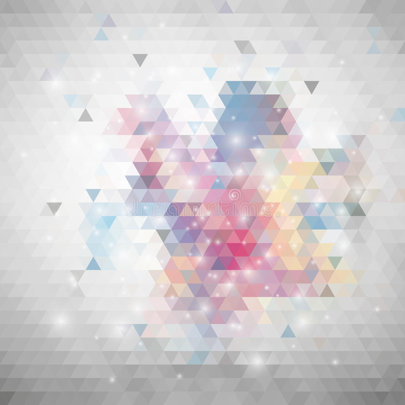 Gray geometric background, abstract triangle royalty free illustration