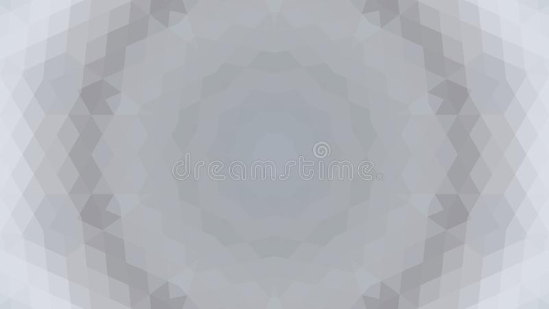 Gray geometric design, gray abstract background. Mosaic of a vector kaleidoscope, Pattern for busines ad, booklets, leaflets. Gray geometric design, gray stock illustration