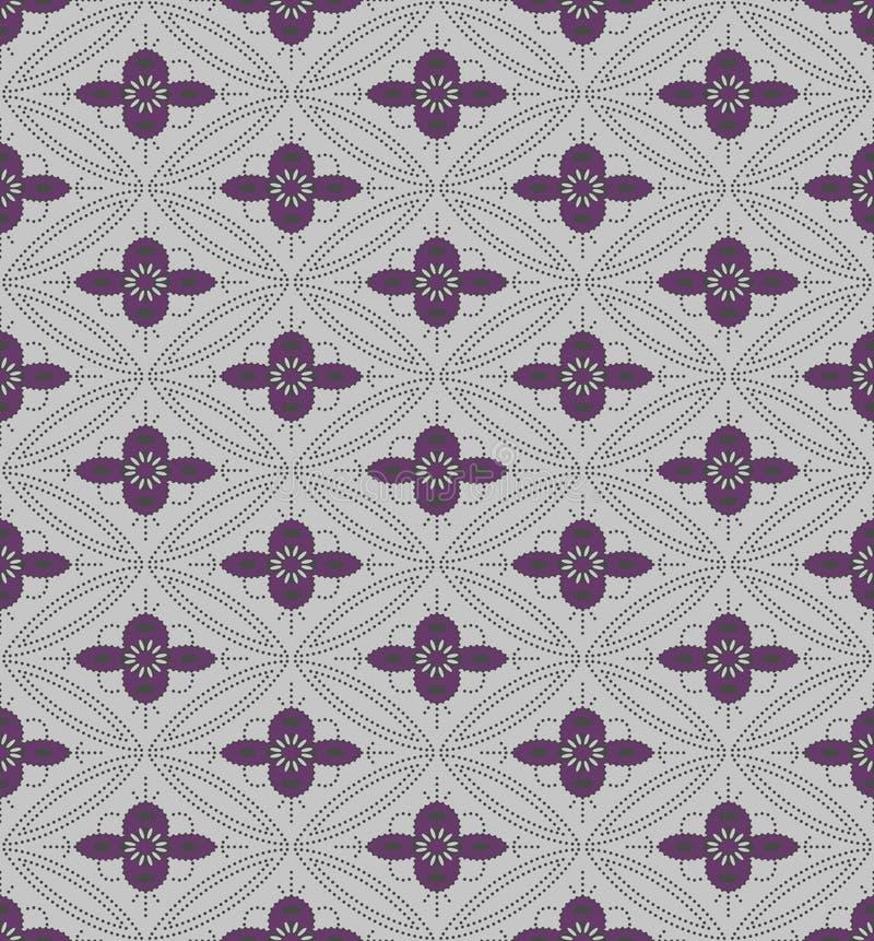 Gray Geometric Flower Seamless Pattern púrpura japonés libre illustration