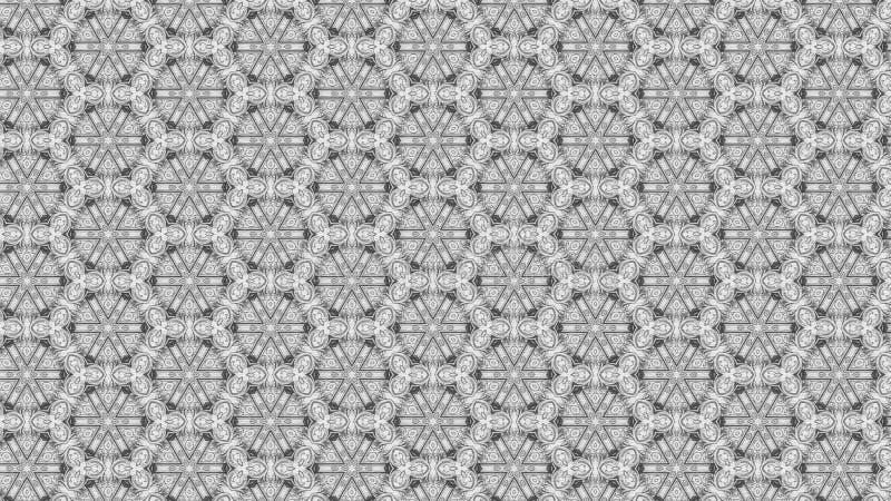 Gray Geometric Ornament Background Pattern-Entwurfs-Schablonen-schöne elegante Illustration vektor abbildung