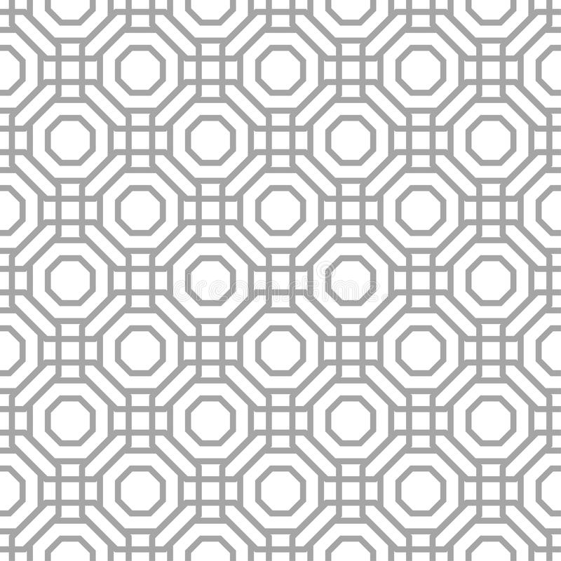Gray geometric print on white background. Seamless pattern vector illustration