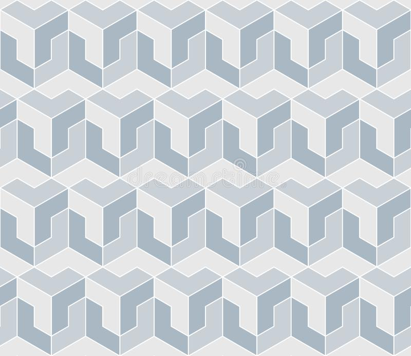 Gray geometric shapes. vector seamless pattern. white simple geometric continuous background. visual illusion. textile paint. vector illustration