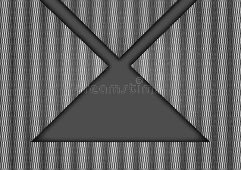 Gray Geometric Texture Background mit geschnittenem Effekt in der Mitte lizenzfreie abbildung