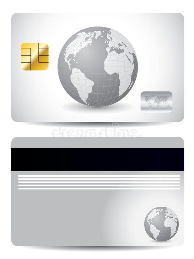 Download Gray globe credit card stock vector. Image of gray, currency - 14939633